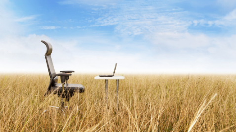 IHAs: Does it matter where an agency is_chair and laptop in a field of hay
