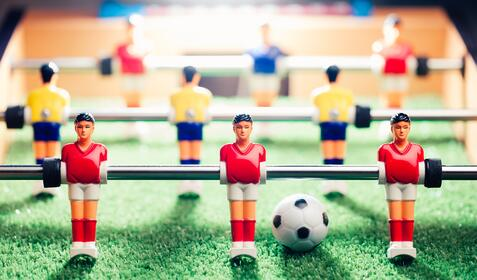 In-house & agency - bringing these concepts together - football table